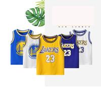 sleeveless junge t-shirts großhandel-J190529Kleinkind Jungen Sommer Sport Ärmelloses T-Shirt Kinder Basketball Jersey Baby Kinder Jungen Mädchen Sport Kleidung J190529