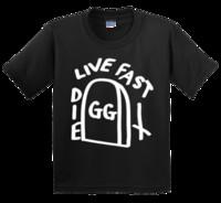 todesfelsen t-shirt großhandel-gg allin grave t shirt neuer Death Metal Black Punk Rocker g.g. Tätowierung lustiges 100% Baumwollt-shirt harajuku Sommer 2018 T-Shirt