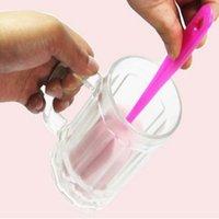 esponja limpa copo de vidro venda por atacado-Ferramenta de limpeza de cozinha simples e durável escova de limpeza esponja copo Conveniente multi propósito caneca de vidro escova de limpeza escova