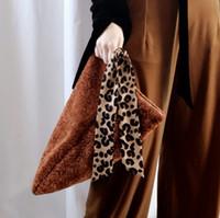 ingrosso giorno di nastro marrone-[Super Seabob] 2019 primavera estate donna nuovo colore marrone cerniera morbido tessuto di lana impiombato leopardo giorno del nastro frizioni LM087