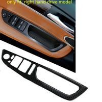 RHD Carbon Fiber Door Armrest Window Switch Cover Trim for BMW X5 E70 2007-2013