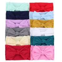 Wholesale hairband new style for sale - Group buy New Baby Girls Bow Headbands Europe Style big wide bowknot hair band colors Children Hair Accessories Kids Headbands Hairband EEA21