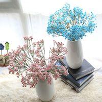 fotos blumenstrauß großhandel-Künstliche gypsophila 90 köpfe gypsophila bouquet gypsophila hochzeitsdekoration geburtstag diy foto requisiten blume weiß blau rosa farbe