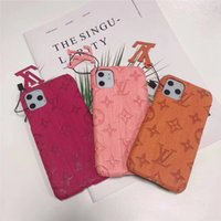 Wholesale back pocket phone cases for sale – best For iPhone Case Monogram Pu Leather Designer Phone Cover For IPhone XS Max XR Plus Embossing Cellphone Back Cover