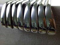 ferros ajustados da esquerda venda por atacado-Nova Esquerda Hander Golf Club A3-718 Ferros Prateados 8 peça Ternos 3-9. P Loft Com Tampa Da Cabeça Entrega Gratuita