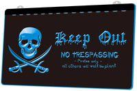 iluminación de barco pirata al por mayor-LS1044-b-Pirates-Keep-Out-No-Paspass-Spoof-Light-Sign.jpg Decoración envío gratis Dropshipping Wholesale 8 colores para elegir
