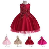 детские вуали оптовых-Новые Платья для вечеринок для девочек Принцесса Свадебная юбка без рукавов для детей платья с блестками Детская вуаль для выпускного вечера плиссированная юбка Вечернее платье принцессы