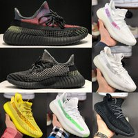Wholesale lime green black fabric for sale - Group buy 2020 New V2 Static Kanye West Beluga Sesame Butter Semi Frozen Yellow Cream White Bred Zebra Black White Men Women Casual Shoes