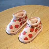 Wholesale year baby boy shoe winter for sale - Group buy Winter Baby Toddler Shoes Strawberry Warm Children Cotton Shoes Years Old Baby Snow Boots