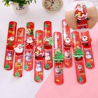 ingrosso braccialetti principali-Giocattolo Bracciale di Natale LED luminoso Clap Anello d'ardore dei braccialetti Braccialetti Santa Snowman polso Clap Light Ring Natale GGA2898