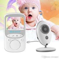 mode vidéo moniteur bébé achat en gros de-Moniteur vidéo sans fil pour bébé, caméra de sécurité couleur 2,4 G, LCD, détection de la température, vision nocturne, berceuse, double sens