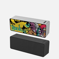 Discount mobile usb flash drive F2 Bluetooth speaker new creative graffiti card USB flash drive wireless audio Portable Speakers dhl free