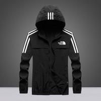 ingrosso grandi abiti da uomo-Felpa con cappuccio da uomo di moda abbigliamento abbigliamento protezione solare abbigliamento nord giacca con cappuccio nero da uomo di lusso giacca con cappuccio di grandi dimensioni M-4XL