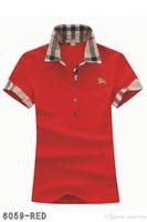 ingrosso camicetta in poliestere-Polo donna polo moda casual polo donna polo 8-colore s-2XL Camisetas camicia camicetta Mujer A012