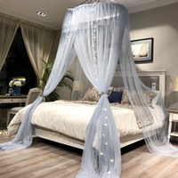 Wholesale princess beds for girls for sale - Group buy Princess Style Hung Dome Mosquito Net Round Lace Curtain for Home Textile Bed Canopy Crib Polyester Mesh Tent Girls Zanzariera