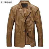 84ad6af9575 Pop Vogues Nice Man Slim Fit Blazer Casual Suit Jacket Leather Stylish Fashion  Plus Size Mens Pu Leather Blazer Jacket 5XL 6XL
