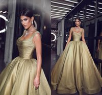 Wholesale evening gowns for sale - Said Formal Evening Dresses Pageant Celebrity Gowns Ball Gown Spaghetti Straps Pleats Ruffles Long Party Vestidos Arabic