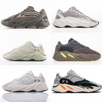 sürüm sim toptan satış-PK Sürüm Erkek Tasarımcı Ayakkabı Kadınlar Koşu Ayakkabıları 700 V2 OG Leylak Leylak Atalet Geode Tuz Analog Dalga Koşucu Sneakers Statik Yansıtıcı Eğitmenler