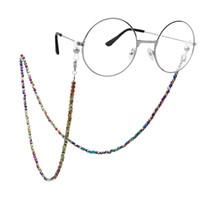 bunte acrylketten großhandel-LuReen Acryl Bunte Perlen Brillen Kette Charme Handgemachte Sonnenbrille Kette Eyewear Retainer Halter Lanyard für Frauen