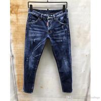 nouveau jeans tendance achat en gros de-Brand New Summer Hommes Trous Denim Shorts De Mode Hommes Jeans En Jean Slim Pantalon Droite Tendance Hommes Designer Pantalon