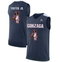 ingrosso pullover di basket usa-Mens Greg Foster Jr. Jersey Custom Gonzaga Bulldogs College Basketball Maglie Moda USA Bandiera di alta qualità cucita taglia S-XXL