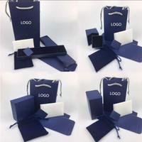 garanti belgesi toptan satış-Swarovski orijinal mücevher kutusu kolye yüzük bilezik hediye kutusu içeren Swarovski mücevher çanta garanti kartı fatura tote çanta