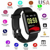 armband handy uhren großhandel-Smart Uhr Herzfrequenz Blutdruck wasserdichte intelligente Sportuhr Sportarmband kompatibel mit HuaweiSamsung Apple-Handy Android