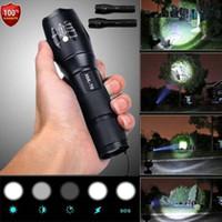 xml t6 taschenlampe modus großhandel-Polizei LED Taschenlampe Taktische 50000LM XML-T6 Zoombare Taschenlampe 5 Modi