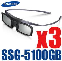 óculos 3d ativo samsung venda por atacado-3 pçs / lote NOVO Original Oficial ssg-5100GB SSG-5150GB 3D Bluetooth Active Eyewear Glasses for all Samsung TV series