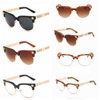 eyewear muster großhandel-Frauen Medusa vintage runde sonnenbrille gedruckt männer kopf hohl muster augenschutz Brillen sonnenbrille Sunblock LJJA2745