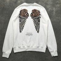 kanatlar rahat hoodie toptan satış-19Aw kapalı marka yeni erkek kadın Marcelo MB Burlon kanatları kazak Severler hiphop sokak rahat moda hoodie jumper MBS9 beyaz / siyah