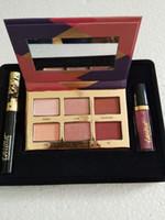 Wholesale eye shadow lip gloss resale online - Brand Makeup Set color Eye Shadow Mascara Lip Gloss in1 Kit Brand Ta Christmas Maqulillage Cosmetics Set DHL Free