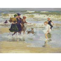 Wholesale abstract art paintings for sale resale online - Edward Henry Potthast paintings for sale Splashing canvas modern Landscapes art hand painted