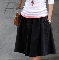 envío gratis para ropa femenina. al por mayor-Falda ocasional más Faldas Tamaño Ropa femenino de la talla media de la falda larga de las mujeres 2019 envío