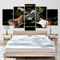 guitarra de cartazes venda por atacado-HD Impresso 5 Peça Da Arte Da Lona Fantástica Guitarra Poster Pintura Pictures Parede para Sala de estar Moderna Frete Grátis
