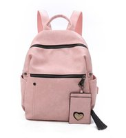 Wholesale retro school bags resale online - Backpack Bag Girl PU Retro Large Capacity Waterproof School Bags colors