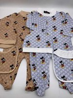 Wholesale newborn baby clothes free shipping resale online - Newborn Babyl Etter Bears Jumpsuits Embroidered Kids Boys Girls Clothes Baby Hat Jumpsuit Romper Cotton Kids Brand Clothing