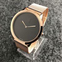erkekler en ince saatler toptan satış-Relogio masculino moda marka Ultra ince siyah kol lüks erkek tasarımcı saatler İsviçre tarihi yeni etiket erkekler casual İzle kuvars saat