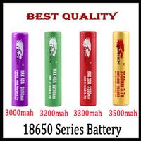печать по электронной почте оптовых-Лучшее качество IMR 18650 батарея 3000 мАч 3200 мАч 3300 мАч 3500 мАч 40A леопардовым принтом MAX50A 50A 2600 мАч аккумулятор FEDEX UPS доставка