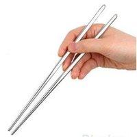 palillos de acero inoxidable de alta calidad al por mayor-2 Par de Alta Calidad Hot New Chinese Chopsticks Mejores palillos de acero inoxidable antideslizante Palillos Chino al por mayor