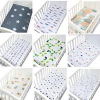 beşik çarşafları toptan satış-Bebek Çarşaf% 100% Pamuk Karikatür Yumuşak Nefes Bebek Yatağı Yatak Örtüsü Beşik Çarşaf Çarşaf Yenidoğan Yatağı Yatak