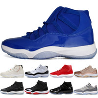 ebcd2725cee 2019 Cheap High Concord 45 11 11s Cap and Gown PRM Heiress Gym Red Chicago Platinum  Tint Space Jams Best Men Basketball Shoes sports Sneaker