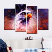 ingrosso pittura a olio di trasporto di goccia-Drop-shipping Wall Art Stampe su tela Animali Lion King Olio Modulare Dipinto di quadri astratti per soggiorno No Frame