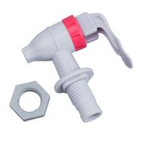 grifos de grifos de plastico al por mayor-Blanco Rojo Tipo de empuje Reemplazo de plástico Dispensador de agua Grifo del grifo
