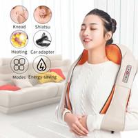 massage relaxant du corps magnétique achat en gros de-Utilisez Masseur U Forme Électrique Shiatsu Dos Cou Épaule Corps Masseur Infrarouge 4D Pétrissage Massage Corps Relax