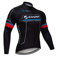 Wholesale giant team cycling bicycle jerseys online - 2019 GIANT Bike jersey Men Cycling clothing MTB Pro team Long Sleeve Bicycle Clothes riding Jersey Quick dry Ropa Ciclismo Hombre Y013130