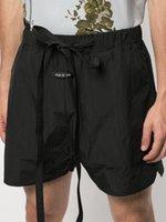 calções casal de praia venda por atacado-Medo De Deus Black Flâmulas Calções De Praia FOG Mens Designer Calças Mulheres Casais Hip Hop Cintura Alta Qulity Streeet Calças Curtas HFSSDK027