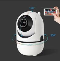 seguridad de vigilancia en interiores al por mayor-Nueva cámara de seguimiento automático 1080P Monitor de seguridad de vigilancia WiFi inalámbrico Mini Alarma inteligente CCTV Cámara interior Monitores para bebés
