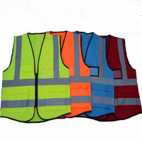 Wholesale reflective safety vest online - High Visibility Clothing Clothing Safety Reflective Vest Night Work Security Traffic Cycling