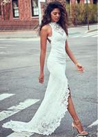 Wholesale elegant sexy casual wedding dresses resale online - 2019 new Elegant Angel Sexy Gentlewomen Dress Women Wedding Dresses Lace Backless Hip Hugger Maxi Dress